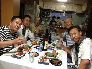 M氏宅でお弔い晩餐