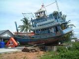 13年前のカオラックの漁村