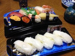 寿司を肴に