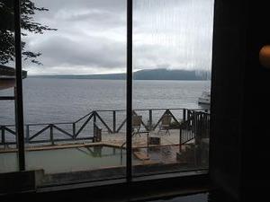 支笏湖を展望