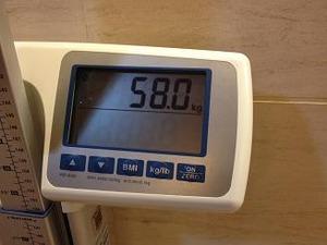 9月2日体重が58キロに減ってるぞ