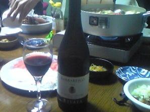 2154「牡蠣鍋とワイン」横
