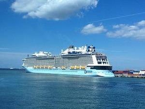 博多港に停泊していた豪華客船