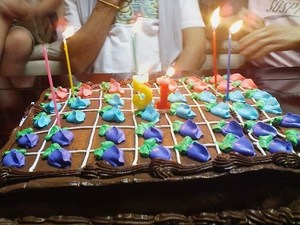 1500「畑型ケーキか?」