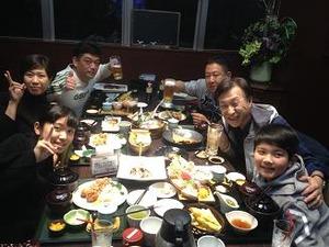 妹さん家族と会食