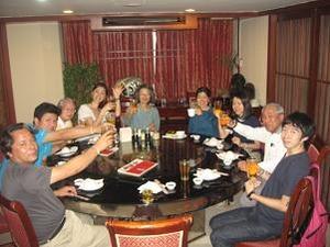 北京飯店で乾杯