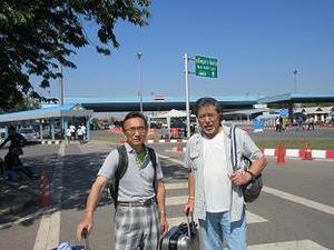 タイを出国