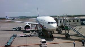 千歳空港到着