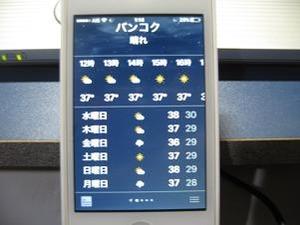 バンコクの外気温