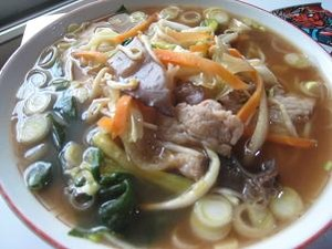 野菜タップリ醤油ラーメン
