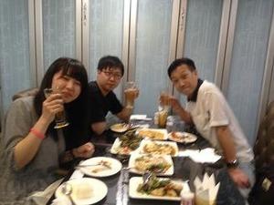 中華で乾杯