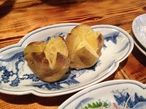 北海道産男爵芋バター乗せ