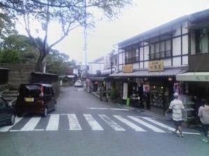 2173「吉野山の店並み」