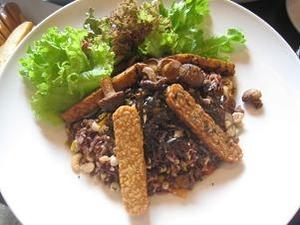 健康的な玄米食