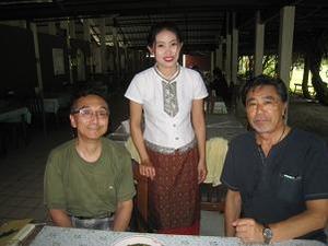 北タイ美人とパチリ