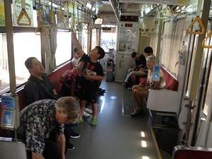 鹿児島の電車に初乗車