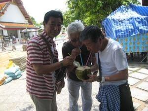水分補給でココナッツ