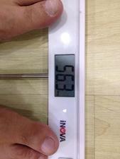 56,3kgだ