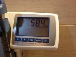 9月6日体重が58.4�