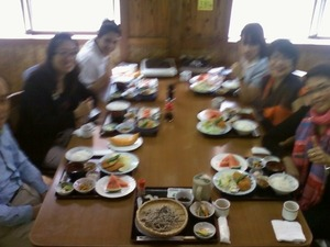 紅桜公園にて昼食