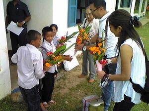 2021「なかよし学校花束歓迎」