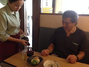 蕎麦には日本酒