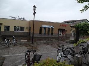 七飯町駅前