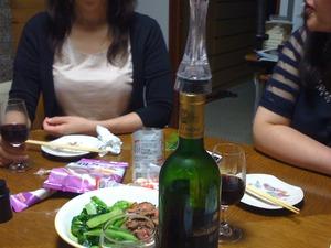 二次会はワインで