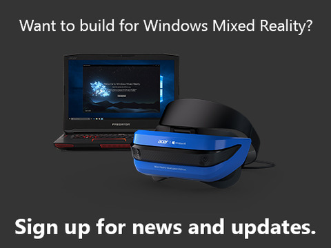 Sign-up-for-Windows-Mixed-Reality
