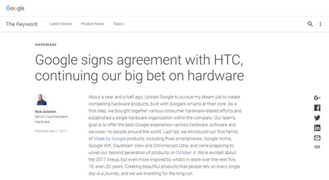 Google signs agreement with HTC