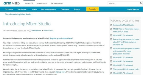 Introducing Mbed Studio   Mbed