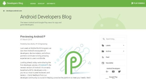 Android Developers Blog  Previewing Android P