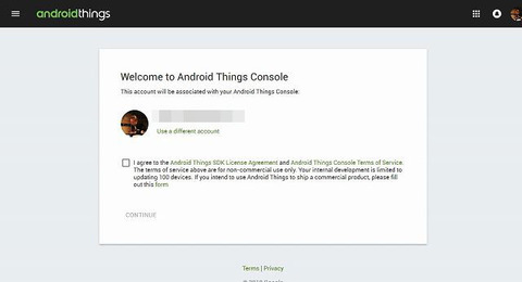 Android Things Console-s