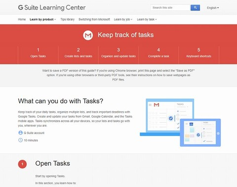 Keep Track of Tasks   Learning Center   G Suite-s