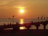 夕陽の白山島橋
