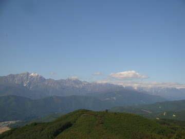 鷹狩山 展望台から望む北アルプス