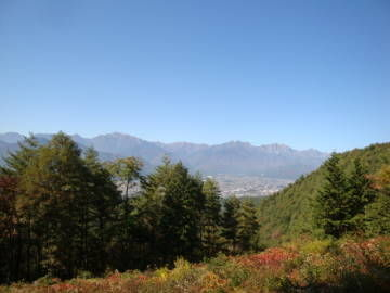 大峰高原白樺の森からの眺望