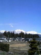 4月の北アルプス