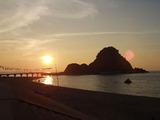 夕陽の白山島