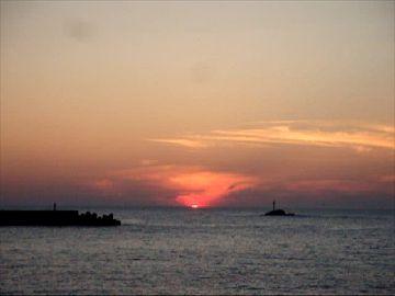 夕陽が沈む直前