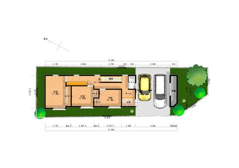 アスキーハウス様 1階-平面図