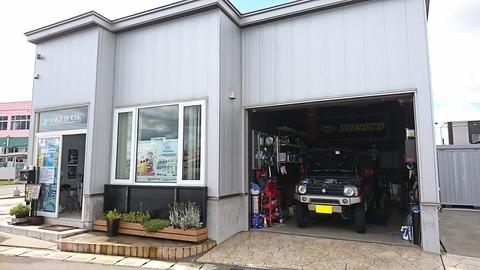 アスキーハウス ガレージ外観