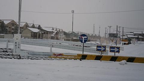 秋田南自動車学校 除雪