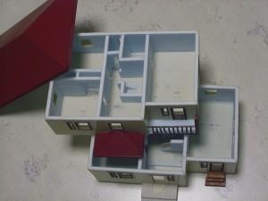 家の模型 各階