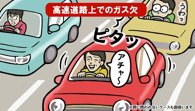 高速道路上でのガス欠