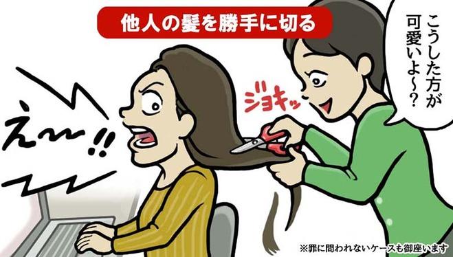 他人の髪を勝手に切る (1)