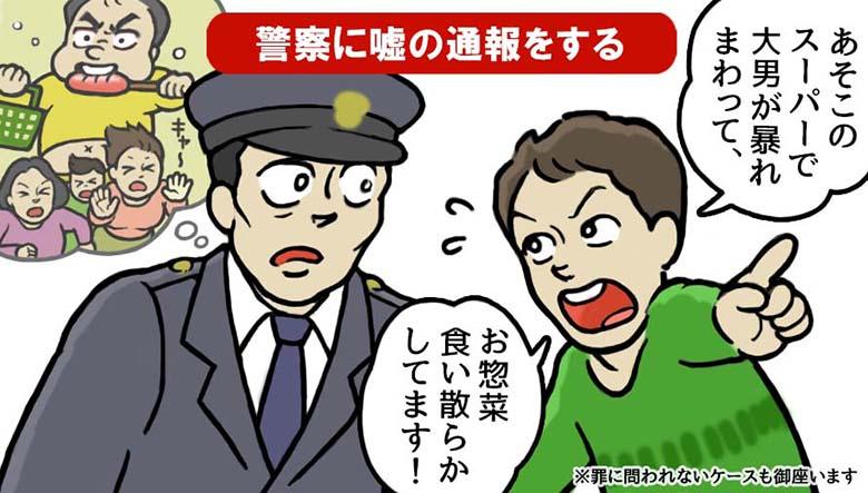 警察に嘘の通報