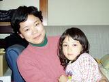 島村さんと愛娘。旦那さんはロシア人なのだ