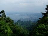 叡山から琵琶湖を望む