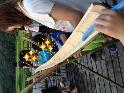 竹の組立て